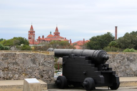 View of St. Augustine from one of the bastions at Castillo de San Marcos