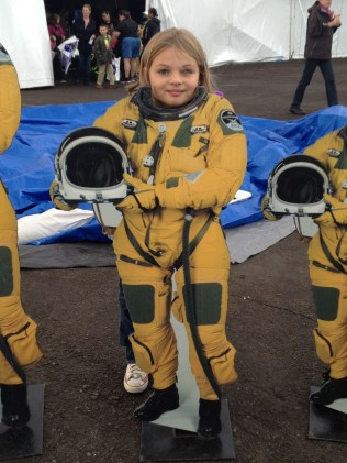 Posing as an astronaut at Balloon Fiesta 2014