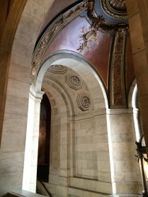 Detail of a marble archway, Schwarzman Building, New York Public Library