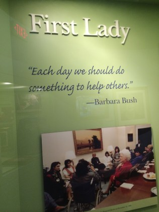From First Lady, Barbara Bush