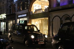 It wouldn't be a trip to London without seeing those classic black cabs like this on in front of Jimmy Choo.