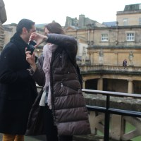 Immerse yourself in history (but not the water) at Roman Baths of Bath, England.