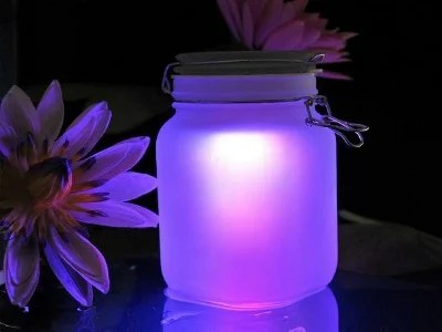 Solar Glowing Mason Jar