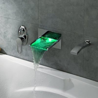 Waterfall LED Bath Faucet