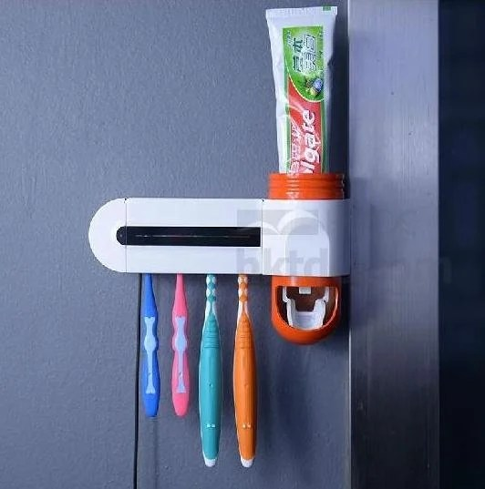 Automatic Toothpaste Dispenser & Toothbrush Sterilizer