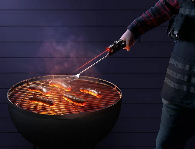 Laser Guided BBQ Fork