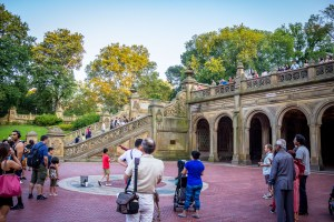 One of the staircases and plaza at Bethesda Terrace