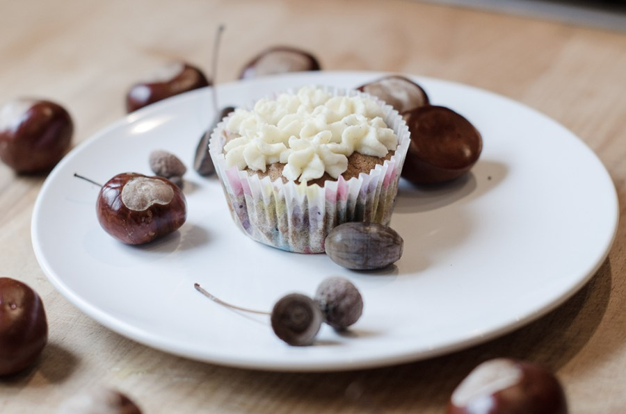 Kuerbis-Cupcakes. Herbstrezepte. ohwiewundervoll.com