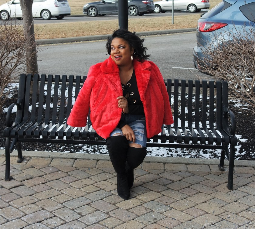 Target Who, What, Wear Cropped Fur Jacket