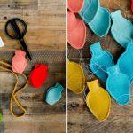 How To Make A Felt Christmas Bulb Garland Or Ornaments