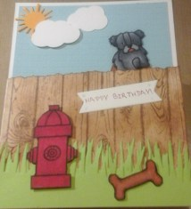 front of dog fence card by cyndi