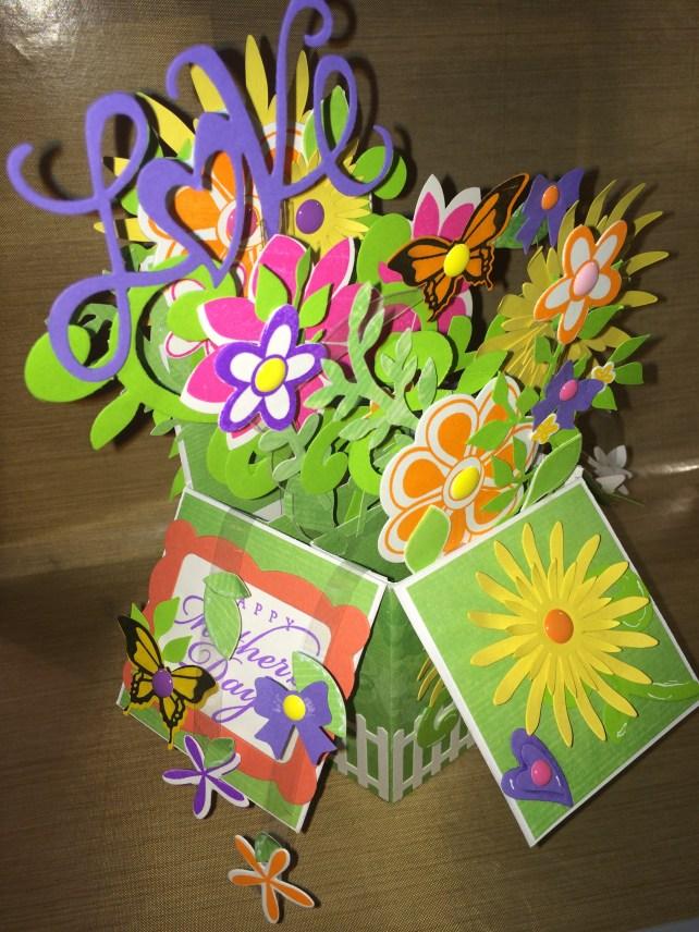 exploding flower box card by cyndi