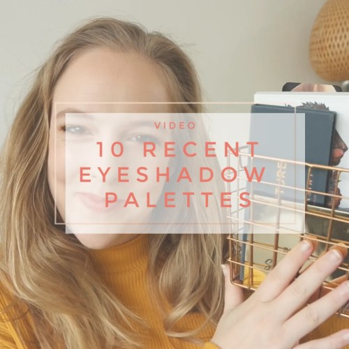 10 recent eyeshadow palettes review swatch look