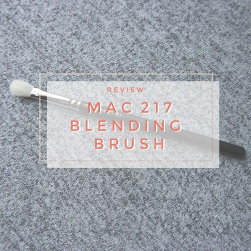 mac 217 blending makeup brush review