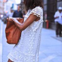 λευκό φόρεμα ...