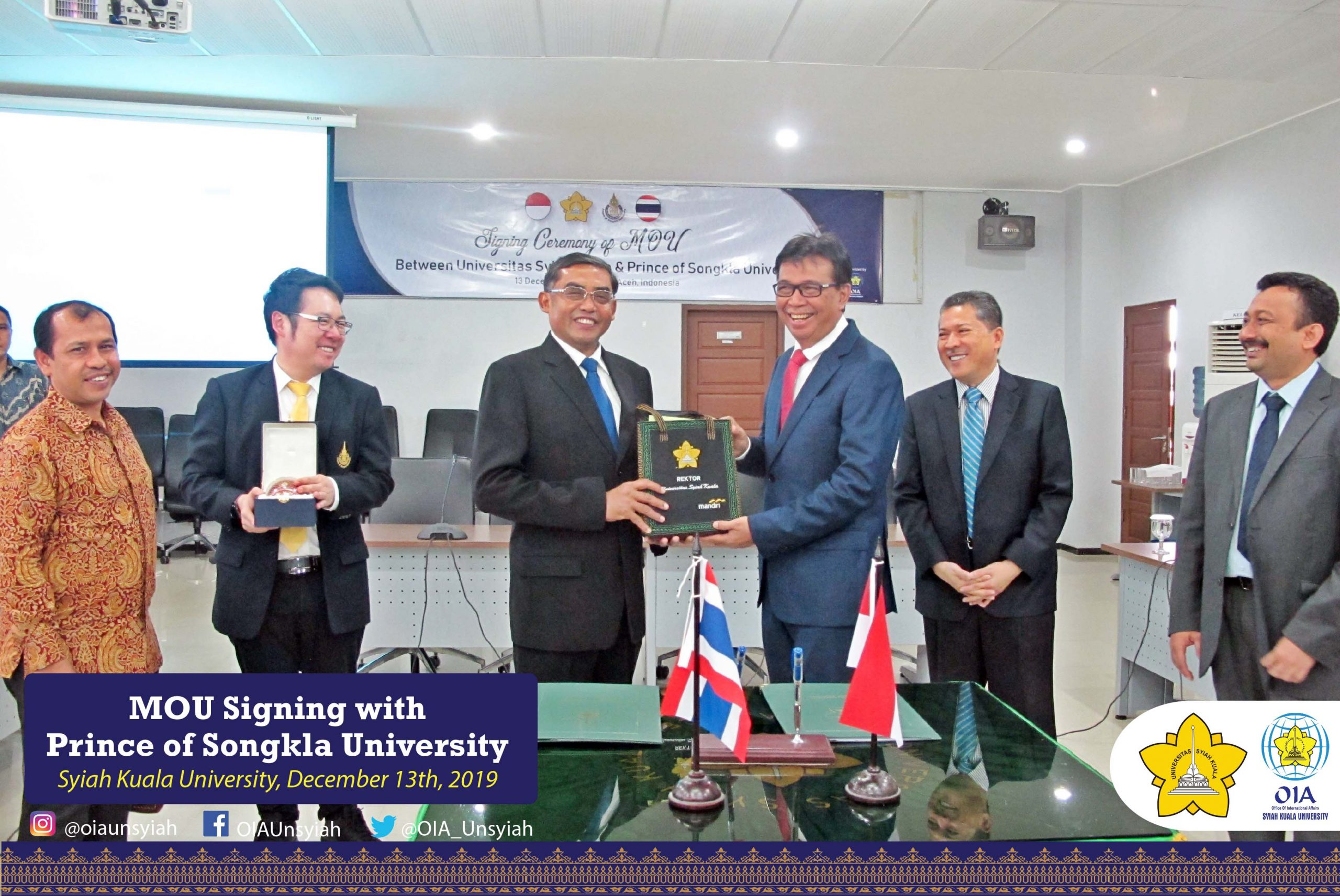 MOU Signing with Prince of Songkla University