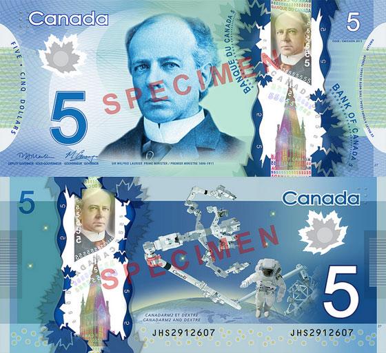 Nova nota de C$5