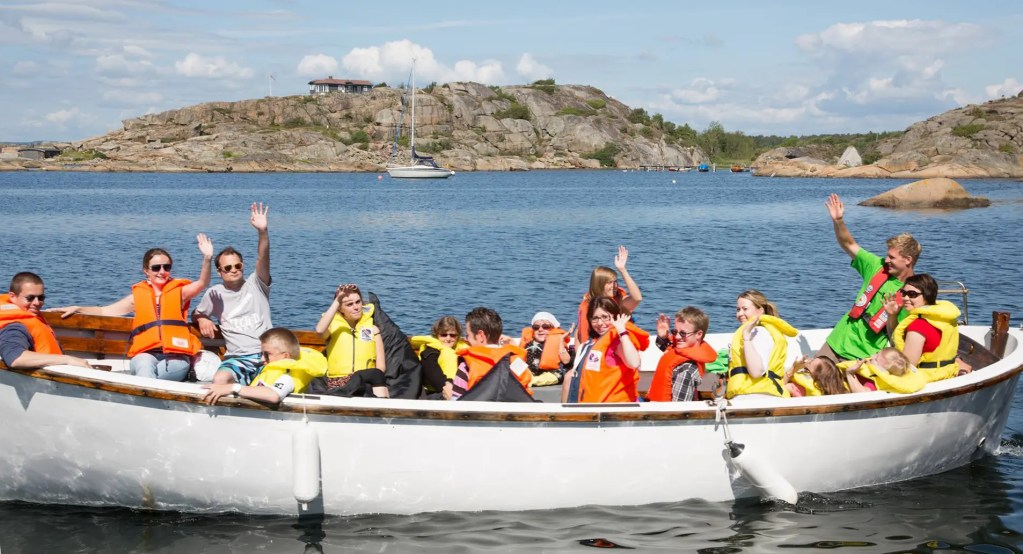 Youth event on boat