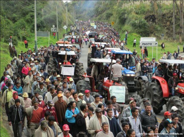 Paro agrario a Santos 2013. El tal paro no existe