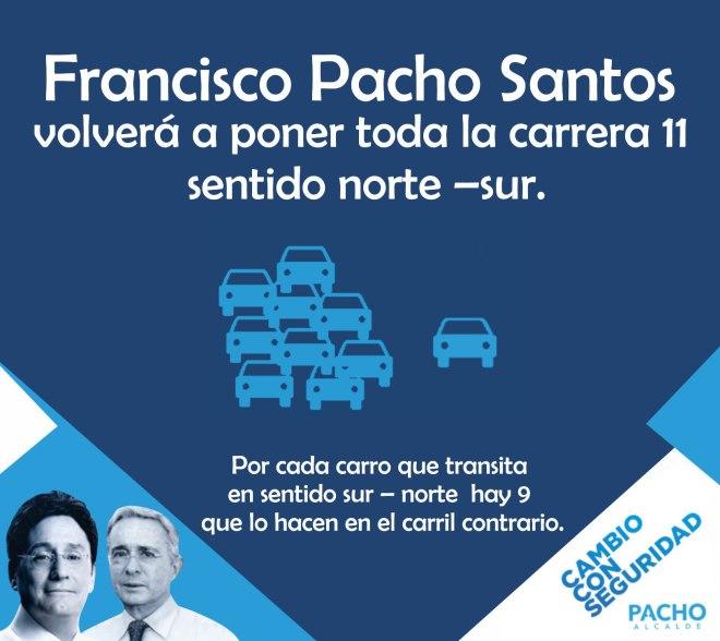 Francisco Pacho Santos movilidad