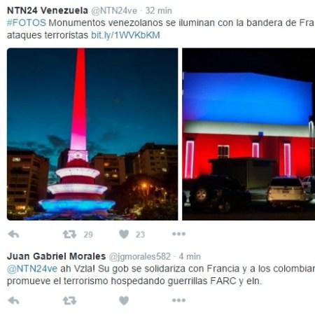 Venezuela ilumina monumentos nacionales