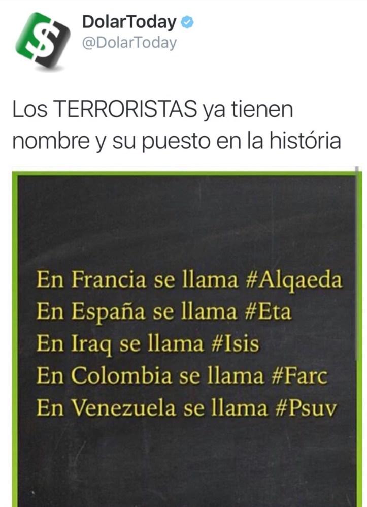 Terroristas en el mundo