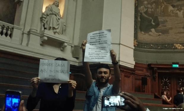 santos protesta