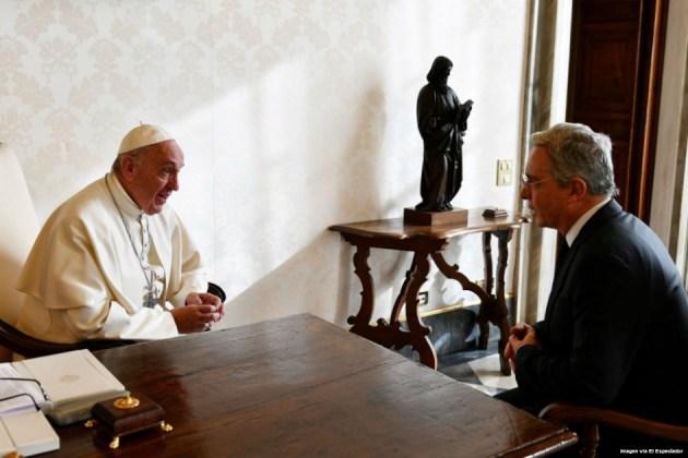 uribe y el papa francisco