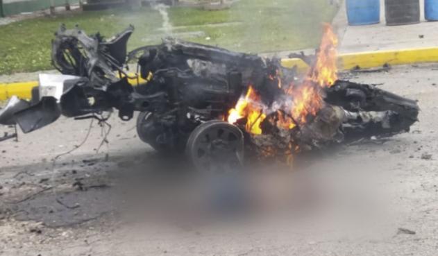 Impactantes imágenes tras carro bomba en Escuela General Santander de la Policía