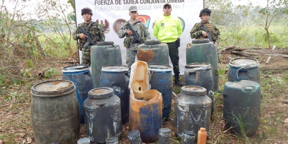 El ejército incauta dos toneladas de explosivos a las Farc