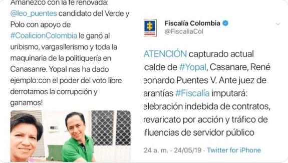 Claudia López guarda silencio ante la captura de su amigo corrupto