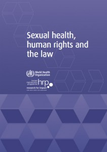 World Health Organization report: Sexual health, human rights and the law