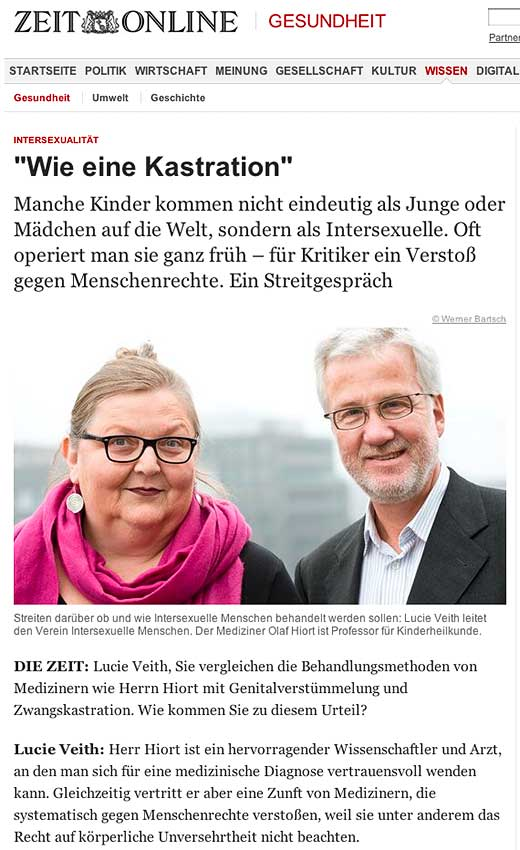 "Zeit Online: ""Wie eine Kastration"" - click to read this article."