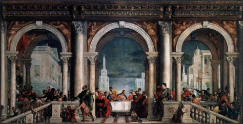 """Veronese, """"Feast in the House of Levi"""" 1573."""