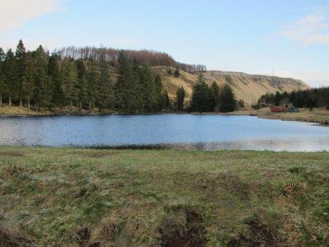 Lundie Craigs above Ledcrieff Loch