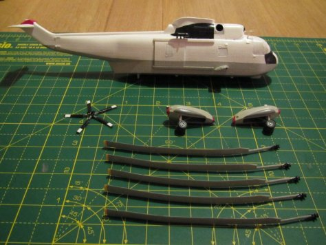 Parts ready for decals