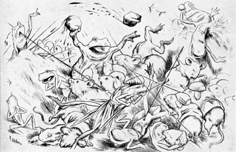 Batrachomyomachia, Theodor Kittelsen 1885