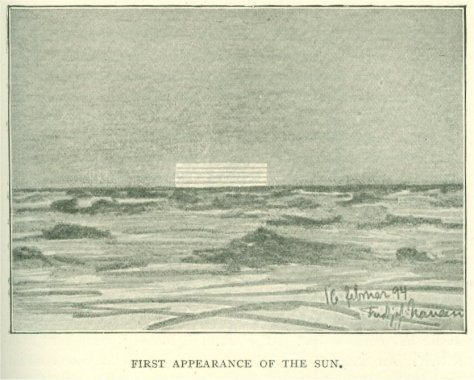 Nansen's sketch of Novaya Zemlya Effect, 16 Feb 1894