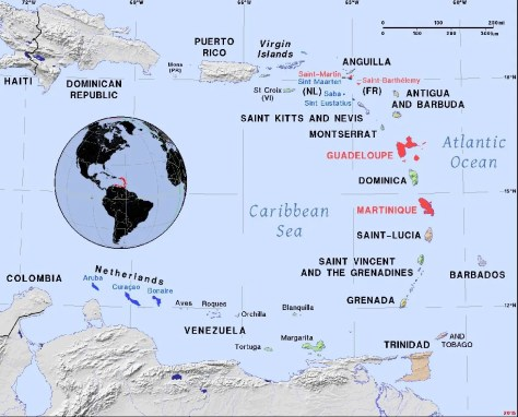 French Antilles and Netherlands Antilles