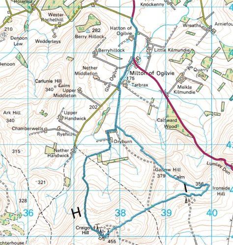 Glen Ogilvie route