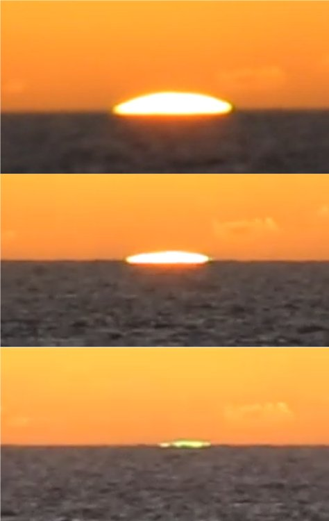 Green flash sequence