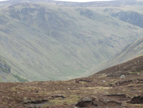 View of Glen Clova from the Glittering Skellies