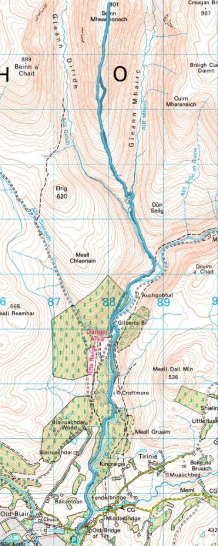 Map of Beinn Mheadhonach route