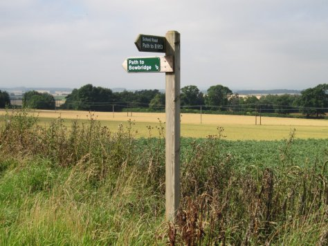 School Road signpost, Kirkton of Collace