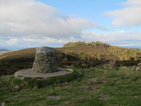 Summit of Balkello Hill, looking towards Auchterhouse Hill