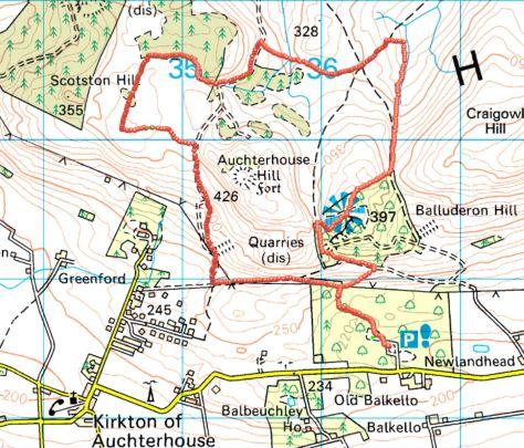 Auchterhouse circuit route