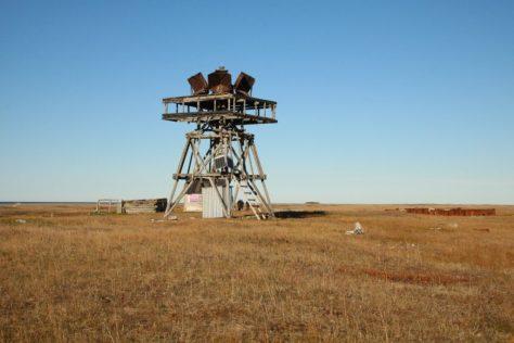 Radar reflector on Belyaka Spit
