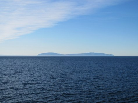 Cape Dezhnev from Big Diomede