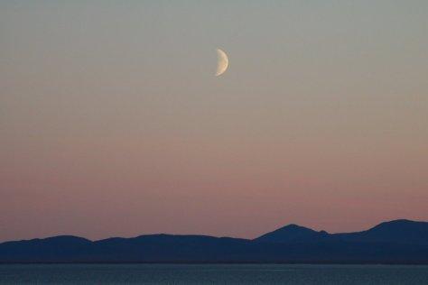 Moon over Kolyuchin Inlet