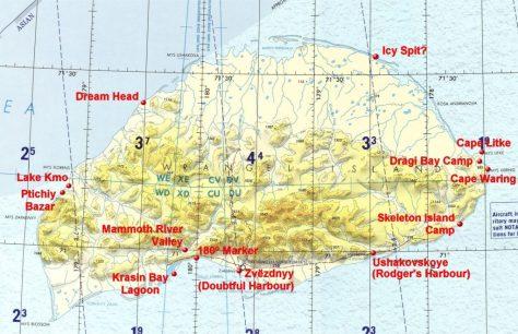 Wrangel Island Tactical Pilotage Chart